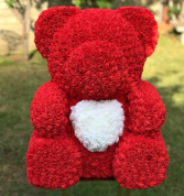 LARGE TEDDY ROSE BEAR 27 INCH.