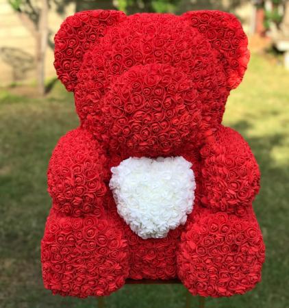 LARGE TEDDY ROSE BEAR 27 INCH.