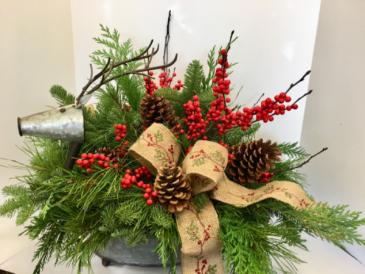 Large Tin Reindeer Bouquet Christmas