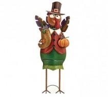 Large Tin Turkey Greeter Seasonal Gift