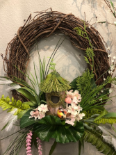 Large tropicana grapevine wreath