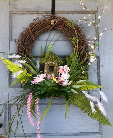 Large tropicana grapevine wreath