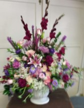 Large Urn Floral Mixed  Sympathy Arrangement