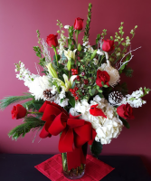 Large Vase Christmas