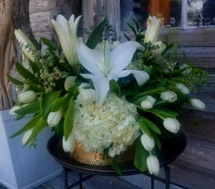 large white garden arrangement Fresh Garden Arrangement