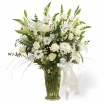 Large White Sympathy Vase