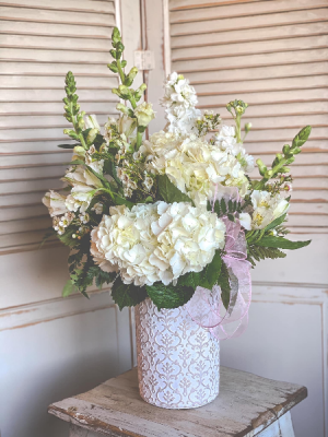 Large White Vase Arrangement Valentine's Day Special in King City, CA | THE GARDEN HOUSE