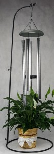 Large Wind Chime and Stand with Plant Funeral