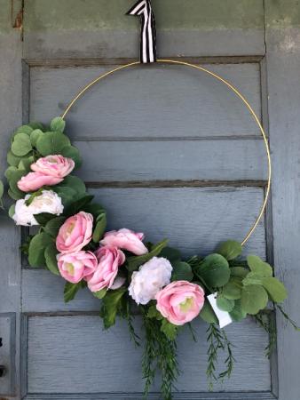 Large wire hoop wreath