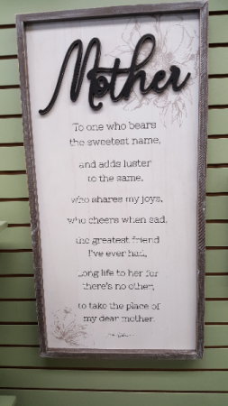 Large wooden Mother sign All occasion
