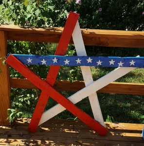 Large wooden star Reclaimed wood