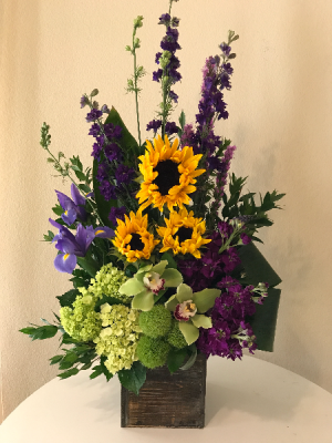 Larkspur Blooms in a Box  in Aliso Viejo, CA | Lily Fiore Floral Boutique
