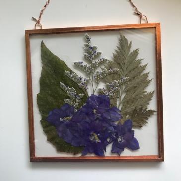 Larkspur, Misty Blue and Fern Pressed Flowers