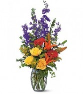 Larkspur mix Funeral Flowers