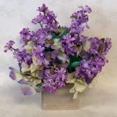 Lasting Lilac Silk Floral Arrangement