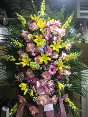 Lasting love Standing spray in Ozone Park, NY | Heavenly Florist
