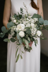 DAWN'S WEDDING BOUQUET loose style, all white