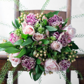 Lav n Green Bridal Bouquet
