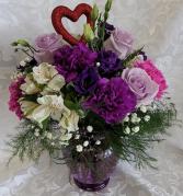 Lavender Love Fresh Vase
