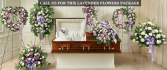 LAVENDAR AND WHITE FUNERAL PACKAGE PICK ANY 3 OR 7 PIECES SHOWN