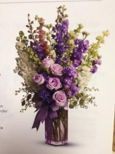 Lavendar Love Vase Arrangement
