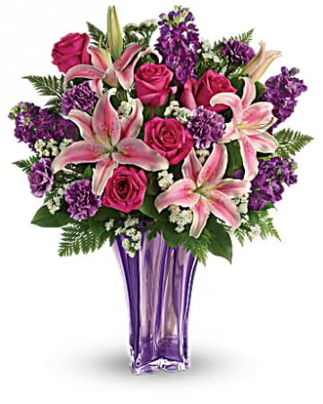 Lavender Luxurious Vased Arrangements