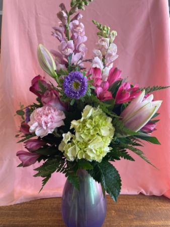 Lavendar Pearl Vase Designer Choice