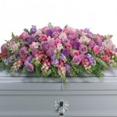 Lavendar Tribute Casket Spray