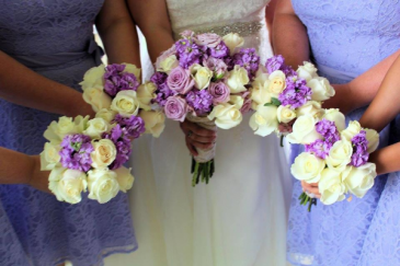 Lavendar/Cream Wedding Combo Brides/Bridesmaids