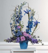 Lavender And Blue Arrangement