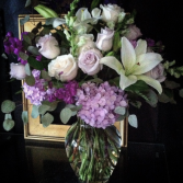 Lavender and Cream Vase arrangement
