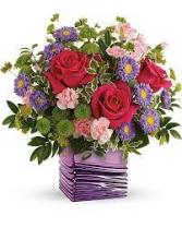 lavender and hot pink bouquet All Around Arrangement
