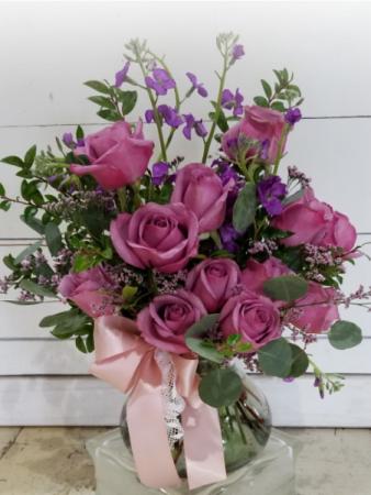 Lavender and Lush  Vase Arrangement