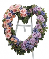 Lavender and Pink Heart Funeral