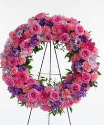 "18"" Lavender and Pink Wreath"
