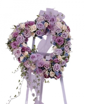 Lavender and Purple Heart Funeral  in Abbotsford, BC   FUNERAL FLOWERS ABBOTSFORD