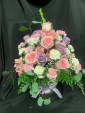 Lavender and Rose Vase Arrangement