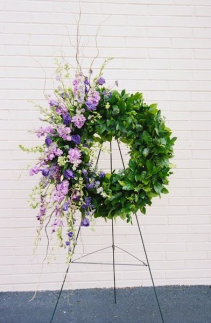 Lavender and Salal Wreath Sympathy