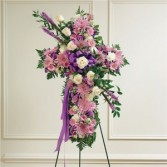 Lavender and White Mixed Standing Cross