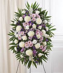 LAVENDER AND WHITE STANDING SPRAY 3 WAS $199.00/NOW $165.00