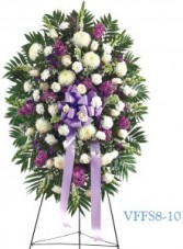 Lavender and White Standing Spray Funeral Spray