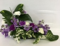 Lavender and White Table Spray Sympathy