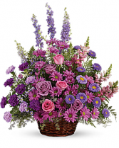 Lavender Basket Funeral Flowers