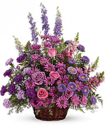 Lavender Basket Sympathy Arrangement