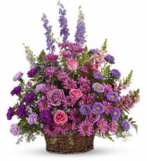 Lavender Basket Tribute Basket