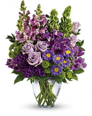 Lavender Charm Mix of Seasonal Lavender Flowera in Bethel, CT | BETHEL FLOWER MARKET OF STONY HILL