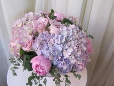 Lavender Chiffon Vase arrangement