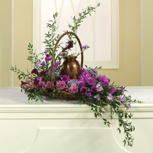 Lavender Dawn Urn Design in Amelia Island, FL | ISLAND FLOWER & GARDEN