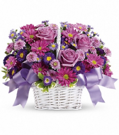 Lavender Daydreams Basket PFD21V190 Available in Standard, Deluxe, Premium