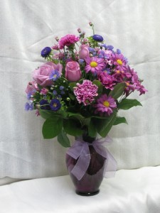 Lavender Delight vase arrangement, easter